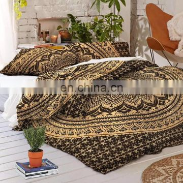 Indian Bedsheet Mandala Colorful Bohemian Room Decor Boho Bedding Set