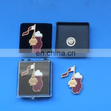 custom Qatar national flag lapel pin badge for national day gifts