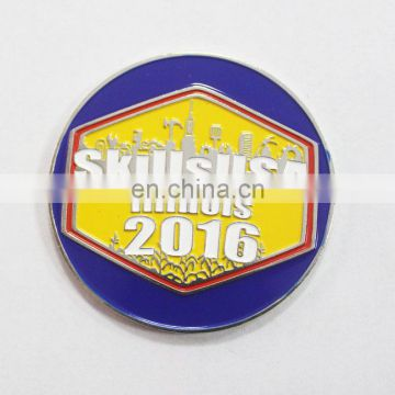 Factory low price Silver Military Challenge Coins with enamel logo