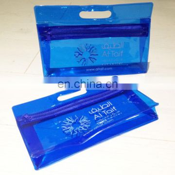 Custom Zippered Wholesale Waterproof High Quality Clear PVC Travel Cosmetic Toiletry Bag