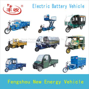 electric sanitation tricycle for loading garbage trash