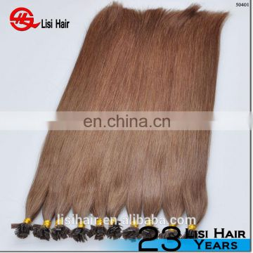 Best Quality Double Drawn Thick Ends Russian Keratin Hair Extensions Flat Tip Hair Extension