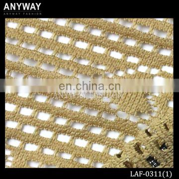 Fashion knitting lace fabric fancy gold lace fabric wholesale lace embroidery fabric