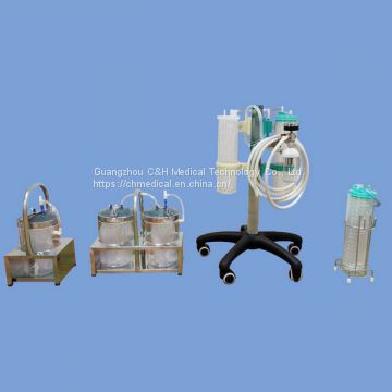 Surgery Operating Theater Using Medical Vauum Suction Regulator Trolley Set with 2 / 4 / 8 Liter Suction Liquid Collecting Jars