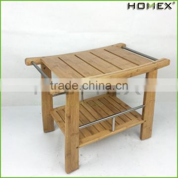 Bamboo Shower Bench Contemporary Shower Seat Homex BSCI/Factory