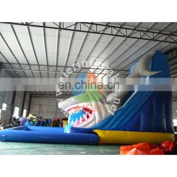 giant inflatable water slide, shark water slide with pool, Aier Inflatables