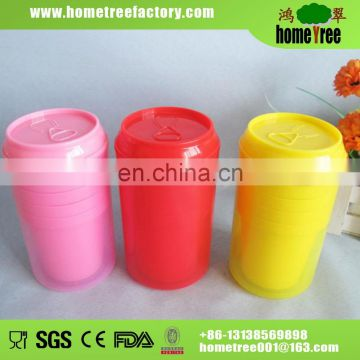 450ml Soda Shape Moderate Size Children Bpa Free shaker Water Bottle With 4 Cups