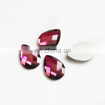 Lead free drop cut flat back crystal stones for jewelry accessories
