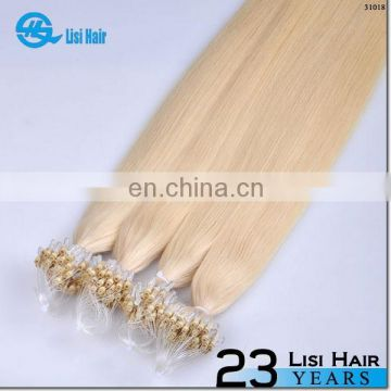 Golden Supplier Italy Keratin Glue No Shedding No Tangle No Dry Remy hair extension blonde natural microring