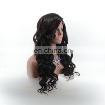 Long body wave brazilian full lace wigs with side part 100% human hair wigs for women 7a grade full lace wig with natural hairli