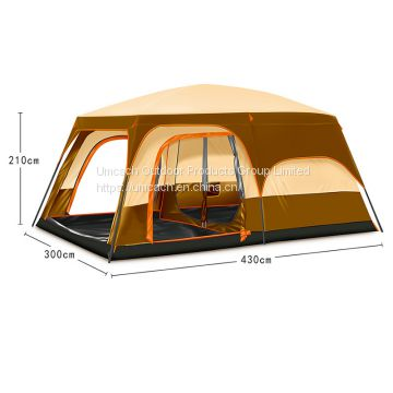 Double Camping Automatically Tent with One Room One Hall