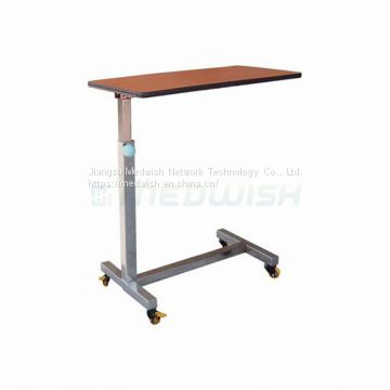 AG-OBT006 Height Adjustable Wooden Dining Board Hospital Furniture Over Bed Table