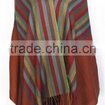 Yarn Dyed Joint Wool Scarf with fringe