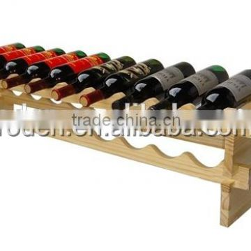 retail store MDF wooden wine display stand/flooring wine display shelf /wine display rack