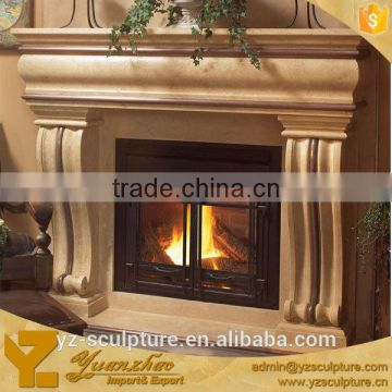 antique carved stone fireplace surround for sale