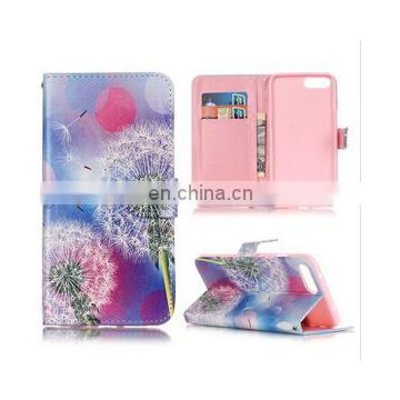 Dandelion wallet stand pu leather phone case for iphone 7 pro