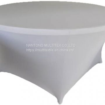 White Round Spandex Fabric Stretch Table Cover Of Spandex Table