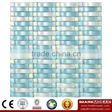 IMARK Painting Glass Mosaic Tiles and Marble Mosaic Tiles for Wall Back Splash Code IXGM8-021