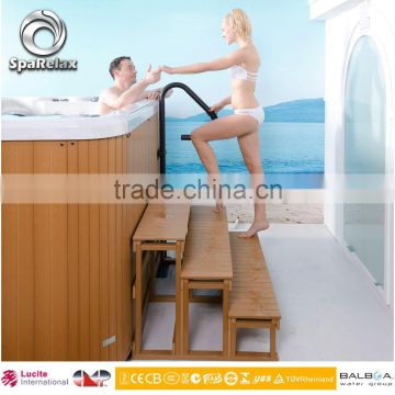 Manufacturer swim pool with combo massage system outdoor spa pool with 37 jets