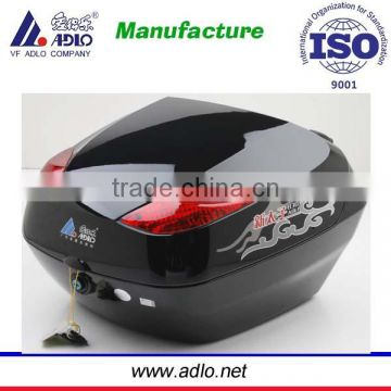 34Litres black color motorcycle tail box for sale /cargo box for scooter
