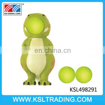Vinyl popper animal toy with soft foam balls for good sale