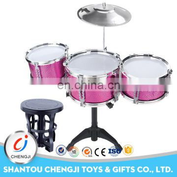 Music instrument colorful plastic professional electric drum set for sale