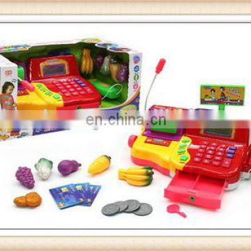 Kid Christmas gift supermarket cash register toy with music and light,toy cash register