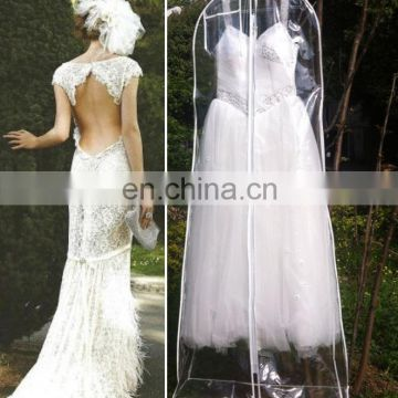 transparent pvc bridal dress cover wedding dress cover clear evening ...