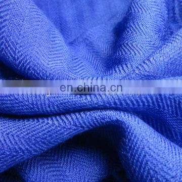 Worsted woven 140S/2*60S/1 herringbone silk wool scarf fabric