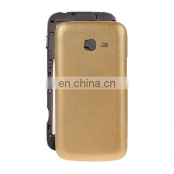 Skin Texture Back Housing Cover Replacement for Samsung Galaxy Ace 3 / S7272(Gold)