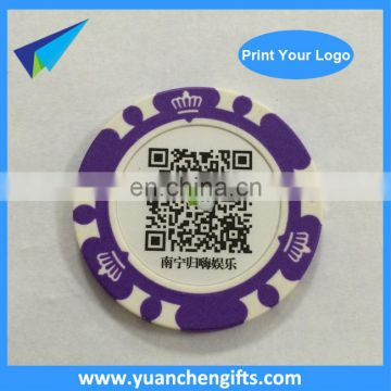 40mm 2 sided printed logo custom poker chips golf ball markers