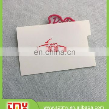Hot sale different shapes custom plastic pvc luggage tag