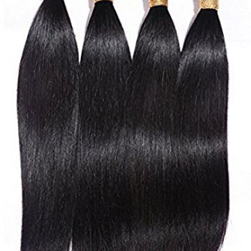 Mixed Color Synthetic Hair Cuticle Aligned Extensions Thick 16 Inches 10-32inch