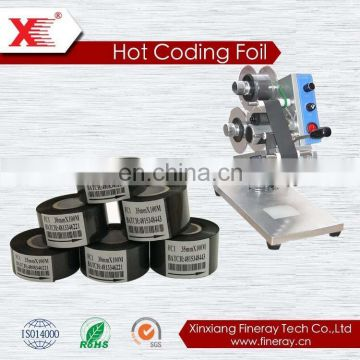 Manufacturer of hot coding foil/printing batch number/30mm*100m Fineray Coding Ribbon