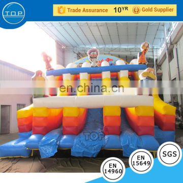TOP bounce house kids inflatable jumping balloon bouncy castle material for wholesales