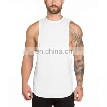 Basic compression cotton fabric tank top sports wear for men