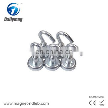 Neodymium pot magnets with 6mm countersunk hole
