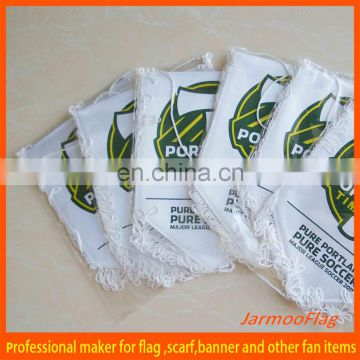 Top quality satin football club flag for sports fans