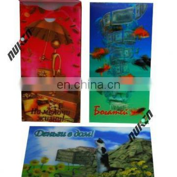 hot sales beautiful prosperity wealth happiness good luck 3d packet or bag for gift with high quality and best factory price