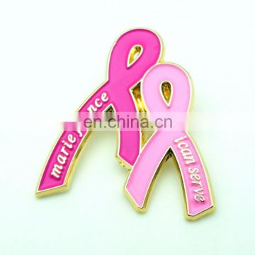 2017 Guaranteed 100% OEM HIGH QUALITY 2D SOFT ENAMEL Metal Pinky Ribbon Lapel Pin