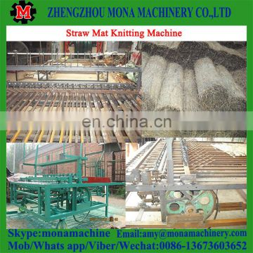 Agricultural recycling shed straw mat braiding machine with high efficiency