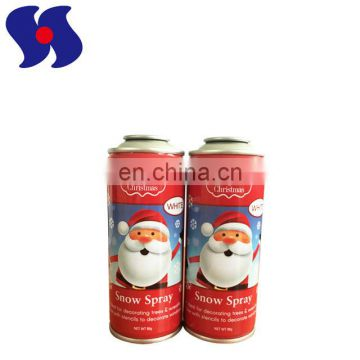OEM Empty Metal Spray Containers for Aerosol Snow Spray with CMYK Printing