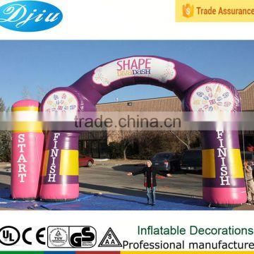 New Design Outdoor Inflatable Advertising Race Start/Finish Line Archway Entrance Arch rental