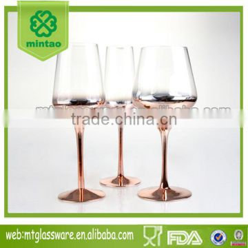 copper charger red wine glass white wine glass champagne glass goblet