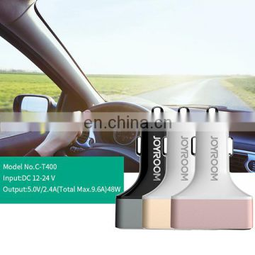 Manufacture Price JOYROOM C-T400 5V 2.4A Fast Charger 4 Ports USB Car Cig Plug Charger Adapter