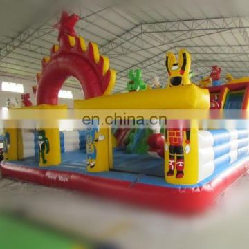 Bouncy amusement robot park inflatable city playground for kids