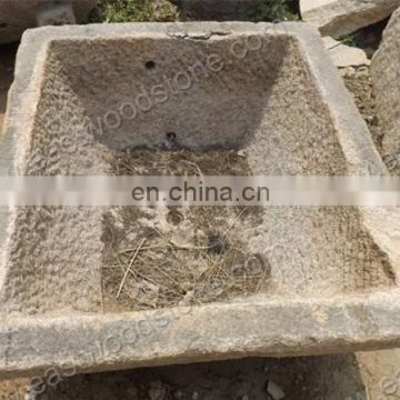 Antique Rectangular Warer Trough Old Stone Trough Sink For Sale Of