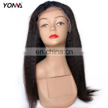 Cheap Remy Lace Front Wig Yaki-Kinky Straight Lace Front Human Hair Wig For Wholesale