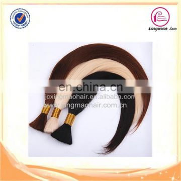 Fast delivery factory wholesale unwefted bulk virgin hair for braiding bulk double drawn non remy hair