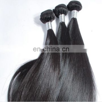 Unprocessed virgin brazilian hair 100% human hair weft silk straight sew in natural hair weaving